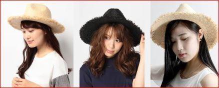 438ラファイア帽子3人.JPG